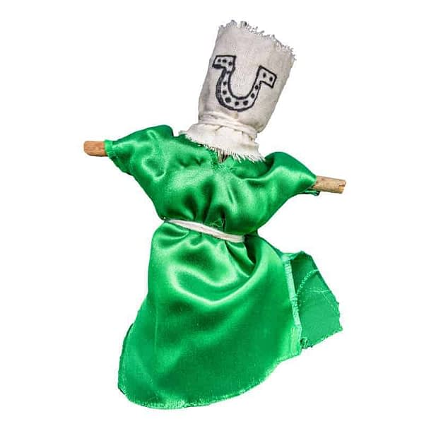green U voodoo doll