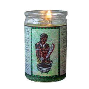 oggun seven african powers voodoo candle