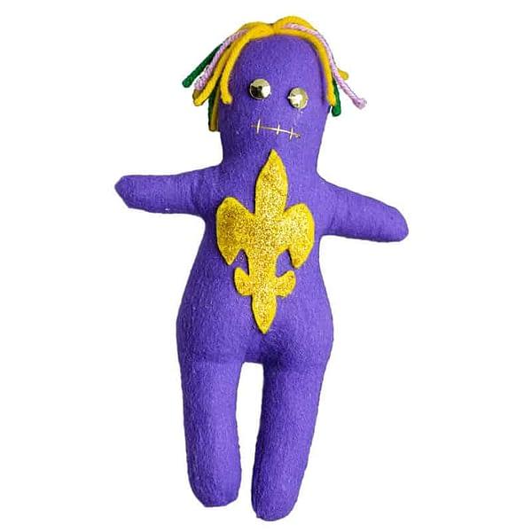 lsu fleur-de-lis voodoo doll