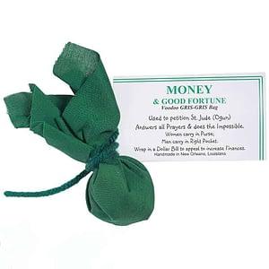green GRIS-GRIS bag Money and Good Fortune Voodoo Museum
