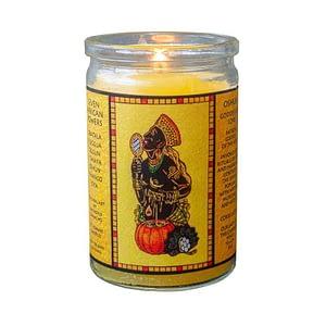 Oshun seven african powers voodoo candle