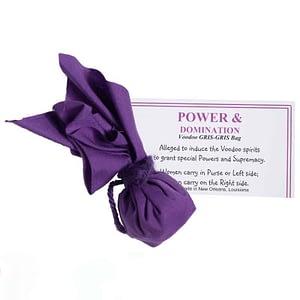 purple GRIS-GRIS bag Power and Dominance Voodoo Museum